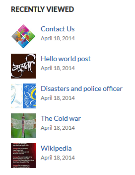 Posts Viewed Recently Display